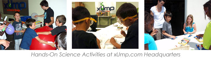 Hands-on science activities for kids by xUmp.com