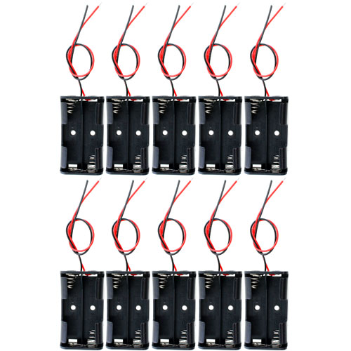 10 pack 2xAA Battery Holders - Image one