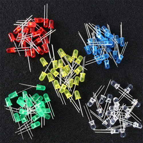 100 Assorted LEDs Pack - 5mm - Image one