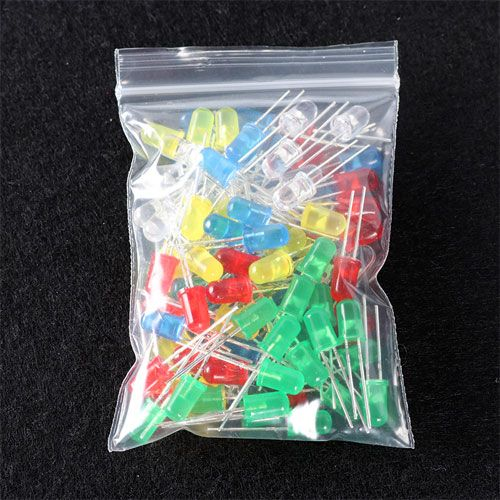 100 Assorted LEDs Pack - 5mm - Image two