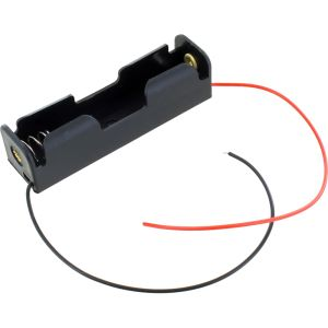 18650 Lithium Cell 3.7V Battery Holder with Leads - Image One
