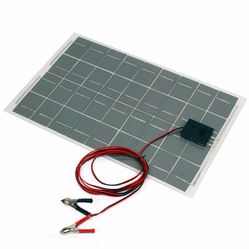 18V 30W Waterproof Solar Panel with Connection Leads - Image two