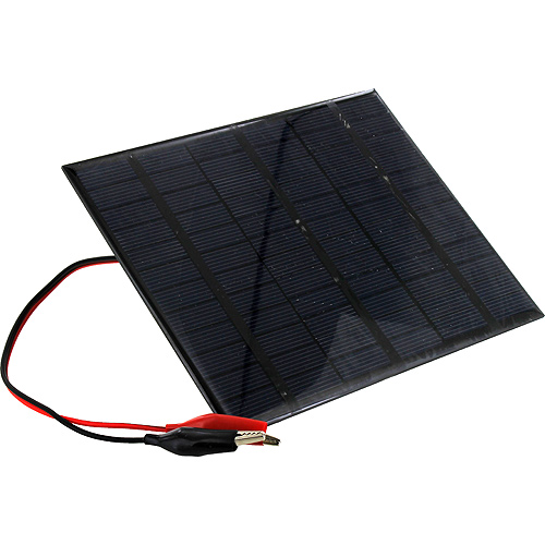 18V 150mA Solar Panel with Alligator Clips - Image one
