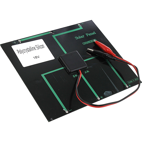 18V 150mA Solar Panel with Alligator Clips - Image two