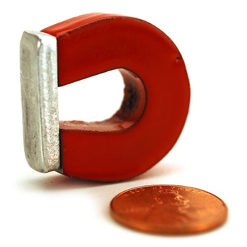 1in Alnico Horseshoe Magnet - Image one