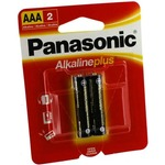 2 AAA Panasonic Alkaline Plus Batteries.