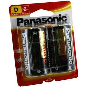 2 D Panasonic Alkaline Plus Battery - Image One