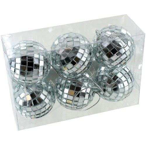 2 inch Mirror Ball - set of 6 - Image one