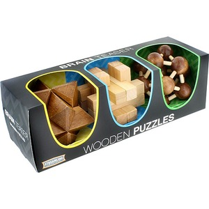 3-in-1 Wood Puzzle Gift Set - Image One