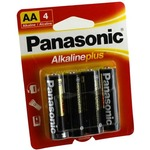4 AA Panasonic Alkaline Plus Batteries.