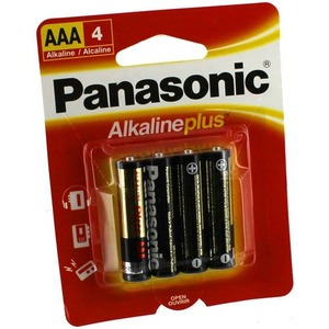 4 AAA Panasonic Alkaline Plus Batteries - Image One