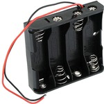 4 x AA Battery Holder with Leads - 6V.