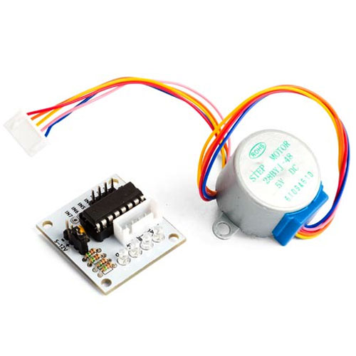 5 VDC Stepper Motor with ULN2003 Driver Board - Image one