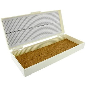 Microscope Slide Box - 50 Slides Capacity - Image One