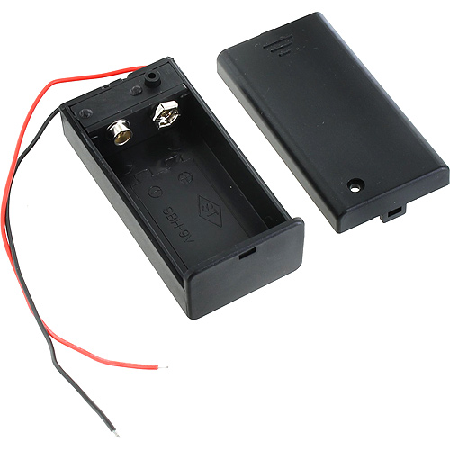 9V Battery Holder with Switch and Leads - Image one