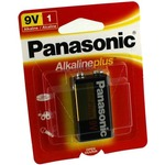 9V Panasonic Alkaline Plus Battery.