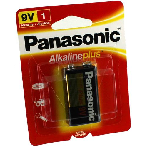 9V Panasonic Alkaline Plus Battery - Image one