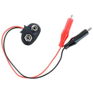 9V Battery Snap to Alligator Clips Connection Wire - Image One