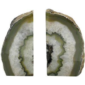 Agate Bookends - Green - Image One