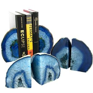 Agate Bookends - Blue - Image One