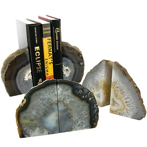 Agate Bookends - Natural - Image one