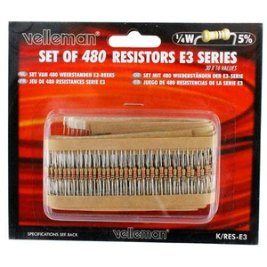 Resistors Set - Assorted 480pcs - Image One