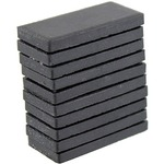 Black Streak Plates - set of 10.