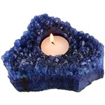 Blue Extreme Amethyst Candle Holder.