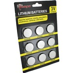 CR2032 Lithium Cell Batteries - 9 pack.
