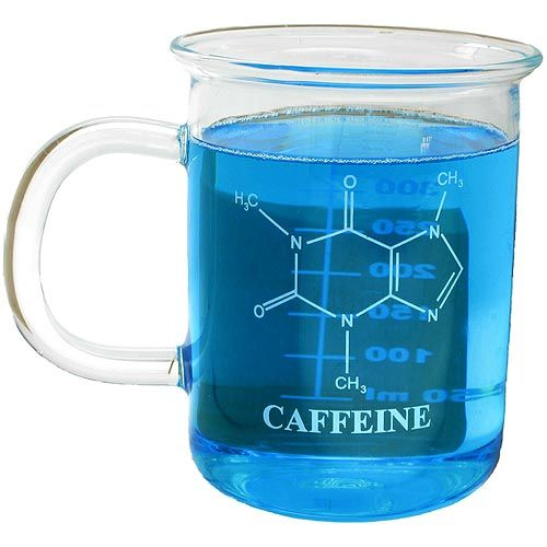 Caffeine Glass Beaker Mug - Image one