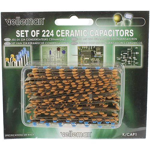 Ceramic Capacitors Set - 224pcs - Image one