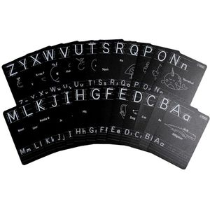 Chalkboard Flash Cards - Alphabet - Image One