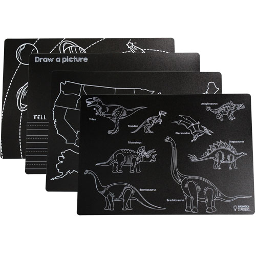 Chalkboard Placemats - Learning Set of 4 - Image two