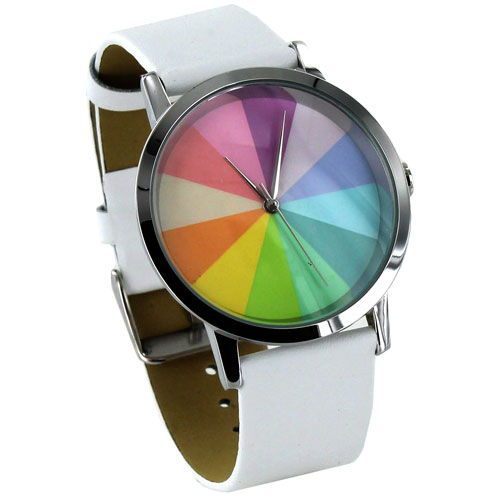 Color Wheel Watch - White - Image one