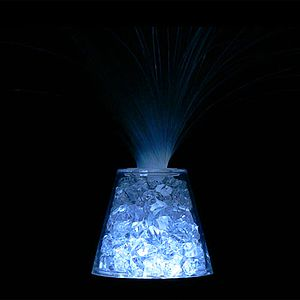 Crushed Crystals Fiber-Optic Lamp - Image One