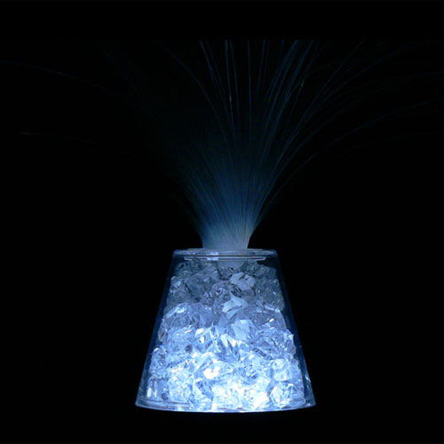 Crushed Crystals Fiber-Optic Lamp - Image two
