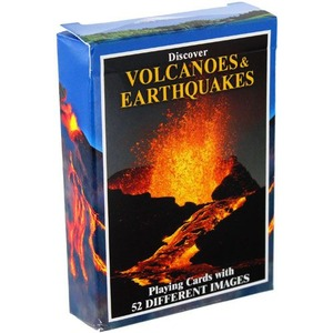 Volcanoes and Earthquakes Playing Cards - Image One