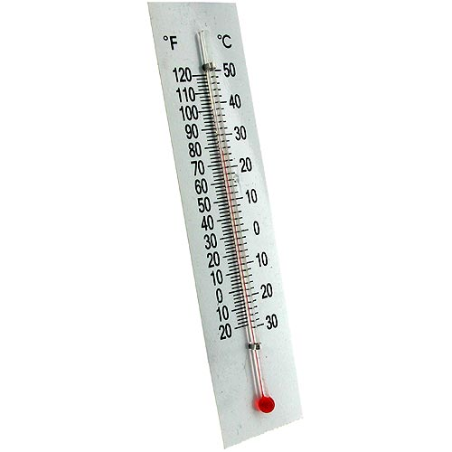 Dual Thermometer with Plastic Backing - Image one