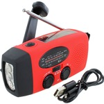 Emergency Solar Hand-Crank Radio Flashlight.