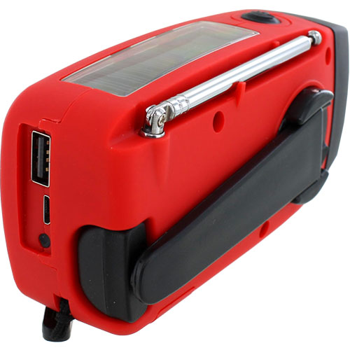 Emergency Solar Hand-Crank Radio Flashlight - Image two