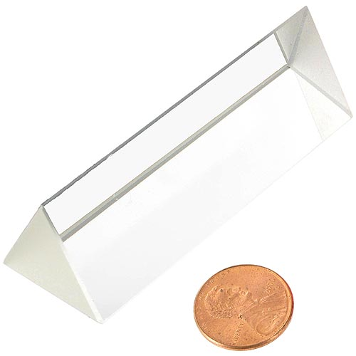 Equilateral Optical Glass Prism - 25 x 75 mm - Image one