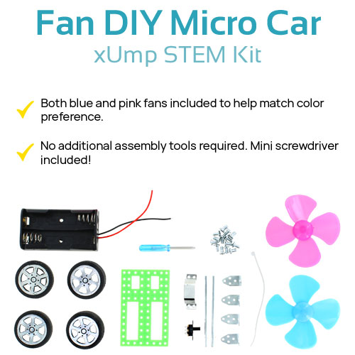 Fan DIY Micro Car Kit - Image two