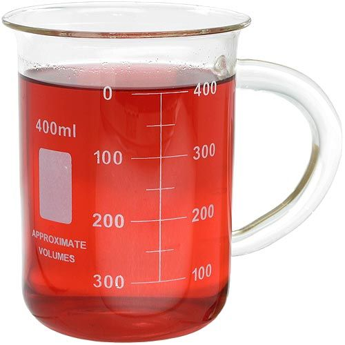 Glass Beaker Mug - 400ml - Image one