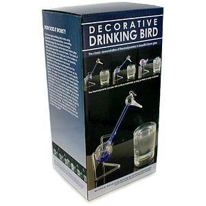 handblown glass drinking bird image one