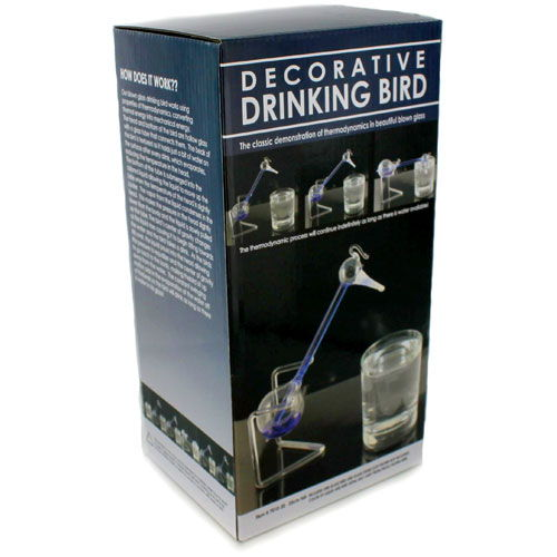 Hand-Blown Glass Drinking Bird - Image two