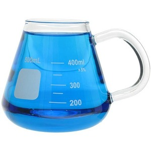 Glass Erlenmeyer Mug - 400ml - Image One