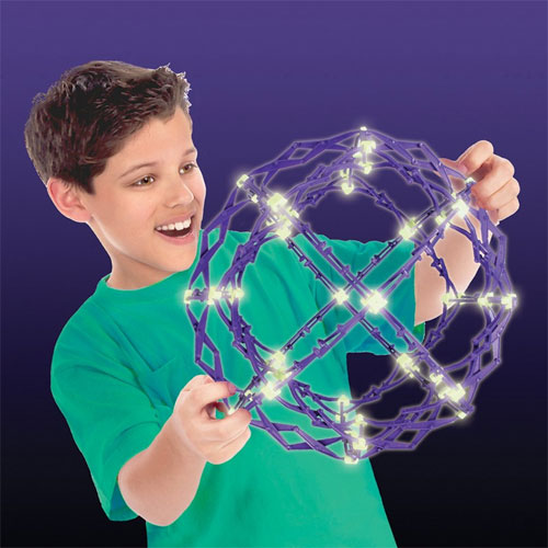 Hoberman Mini Sphere - Expanding Universe Glow - Image two