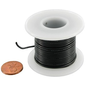 Hook-Up Wire on Spool - Black - Image One
