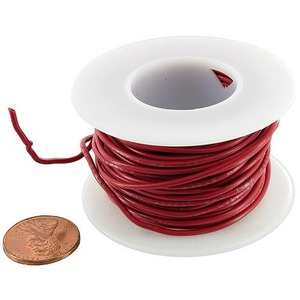 Hook-Up Wire on Spool - Red - Image One