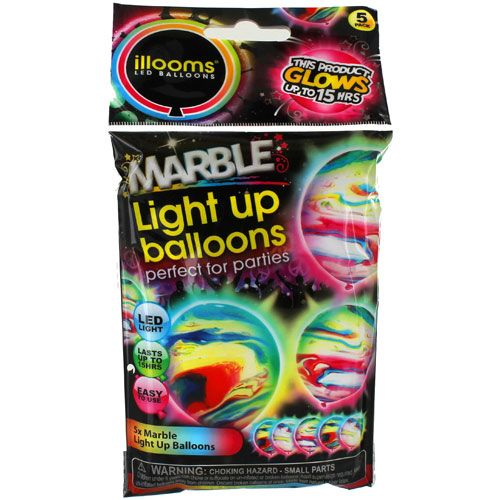 Illooms Light-up Balloons - Marble 5 Pack - Image one